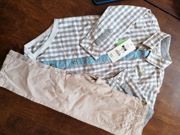 Новый. Нарядный костюм для малыша, рубашка и брюки Cool club 86