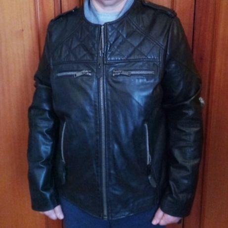 casaco de pele genuína da MANGO (original)
