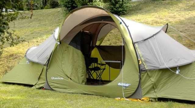 Tenda de Campismo Quechua Base Seconds 4.2 (2 quartos + 1 sala)