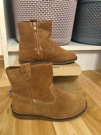 Замшевые ботинки Zara, размер 25, стелька 16 см