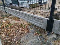 Podmurowka prefabrykowana płyty betonowe pod ogrodzenie