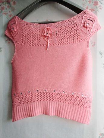Блузка в'язана ажурна Liansheng Sweater рожевого кольору