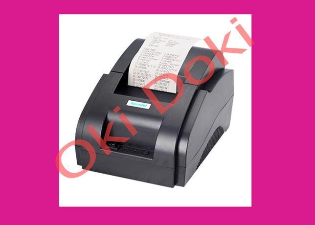 Принтер чеков Xprinter XP 58IIH чековый Торгсофт JP 5890K 1с Хпринтер