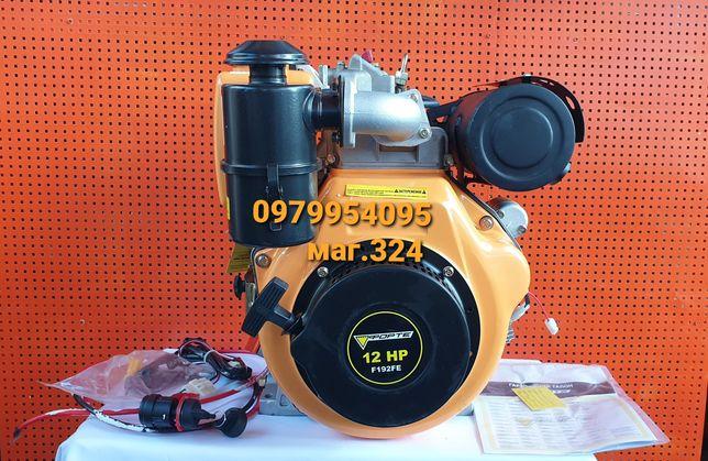 Двигатель дизельный Forte F192FE с электро стартером 12 л.с.
