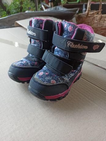 Зимние термо ботинки сапожки на девочку сноубутсы