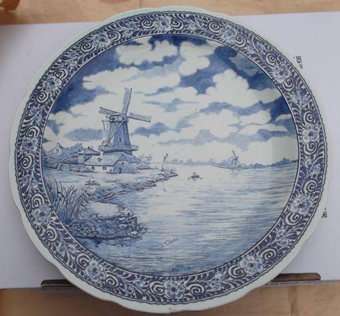 Porcelana ,, Duży Talerz Holenderski ''.