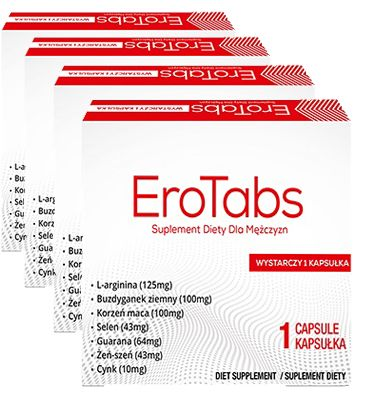 4x Ero-Tabs SILNE TABLETKI NA POTENCJĘ WZWÓD erekcja 24h testosteron