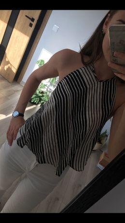 ZARA zwiewna bluzeczka w paski, rozmiar S