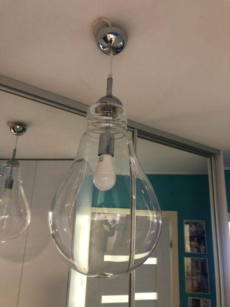 Lampa sufitowa w kształcie żarówki duża