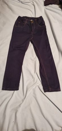 Chłopięce materiałowe spodnie H&M 4-5 lat 110 cm chłopiec. Jak nowe.