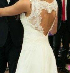 Suknia ślubna sukienka koronka plecy serce