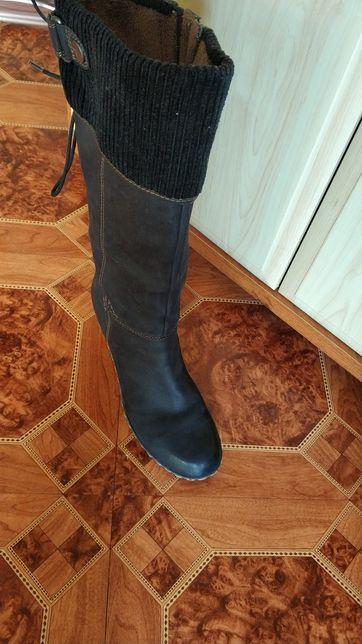 Сапожки Tamaris Германия ботинки кожаные нубук