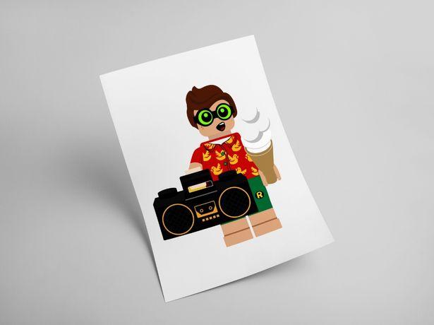 Plakat Lego Minifigures Batman Marvel Harry Potter Joker