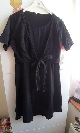 Czarna sukienka ciążowa i do karmienia
