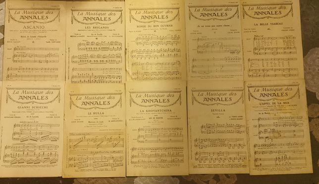 14 partituras antigas de 1924