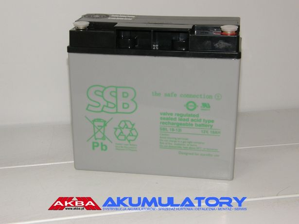 NOWY Akumulator SSB SBL 18-12i (12V 18Ah) AGM