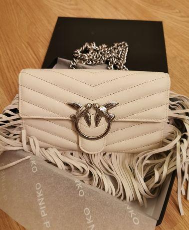 Pinko Love shoulder wallet with fringe