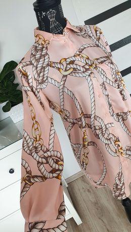 Zara koszula sznury popularna XS łososiowa