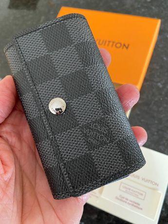 Porta Chaves Louis Vuitton Couro Com Caixa - 2 Padrões