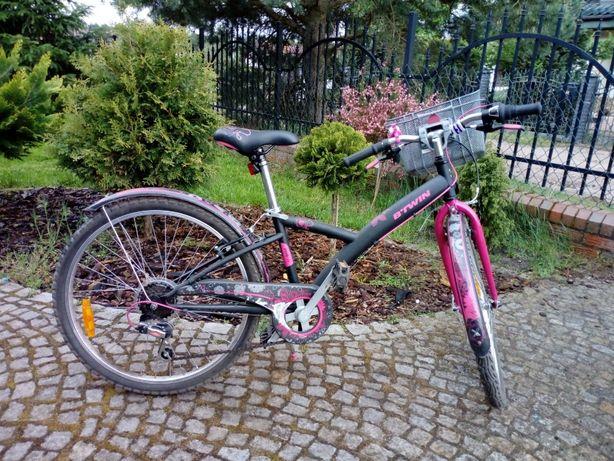 Rowerek dla dziewczynki, koła 24 cale