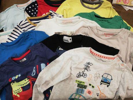 10 T-shirtów z długim + 1 z krótkim rozm. 86