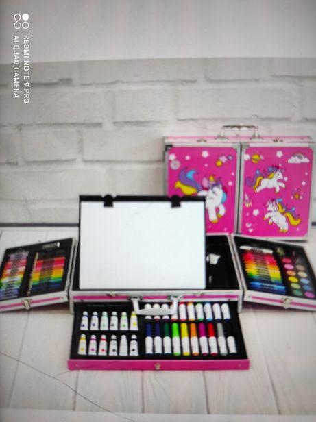 Набор для творчества набор для рисования в чемодане С мольбертом