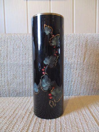 Wazon Fistek Glass Tarnów Polska ręcznie malowany