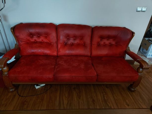Stylowa kanapa z fotelami