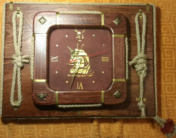 Настенные часы ручной работы, стиль морской, романтика, путешествия