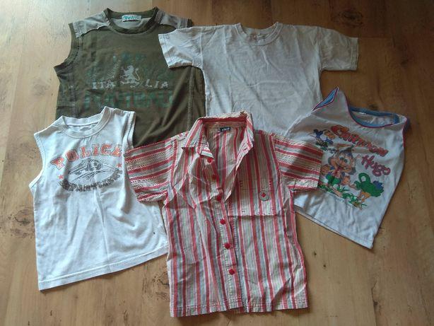 bluzeczki 5 sztuk R.116/134