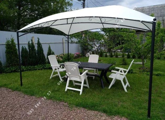 Павильон 3м х 4м стальной каркас,шатер навес беседка альтанка садовая