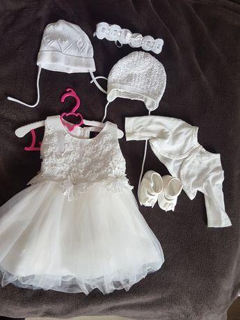 Sukienka , zestaw do chrztu / na chrzest