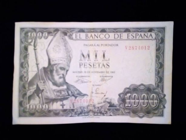 Notas de 1000 pesetas 2X