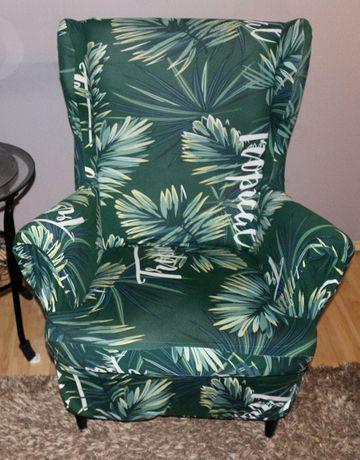 Elastyczny pokrowiec na fotel uszak pasuje na Ikea Strandmon