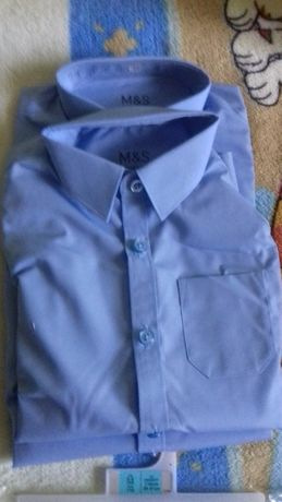Новые школьные рубашки серии Slim Fit ,Marks & Spencer, Англия.