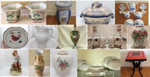 Promoção de Porcelanas Grandes peças, serviços, moveis