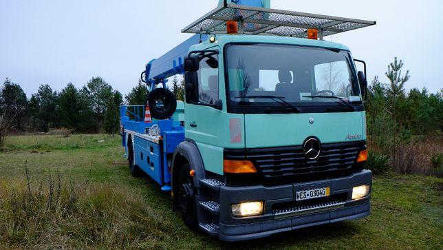 Mercedes-Benz Atego, Podnośnik koszowy Wumag WT350, zwyżka, 179 tyś.km