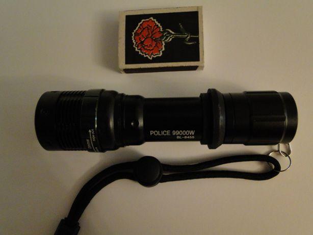 Новый. Police BL 8455 99000W тактический фонарик, фонарь с подв линзой