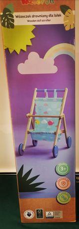 Nowy Wózek dla lalek Drewniany Elefun w