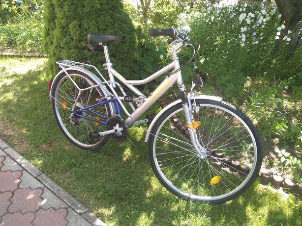 Rower trekingowy damka - koła 28 cali - 21 biegów - 2x amortyzator