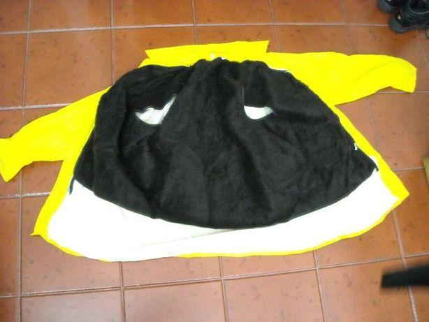 Capa de Oleado de Trabalho Amarela com forro de pêlo Castanho