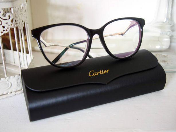 Cartier damskie czarne oprawki okulary zerówki KOT