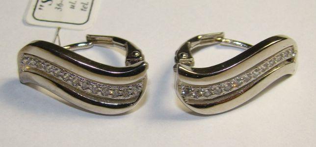 TANIO ! kolczyki srebro rodowane próby 925 -Firma Szafir- wzór S71