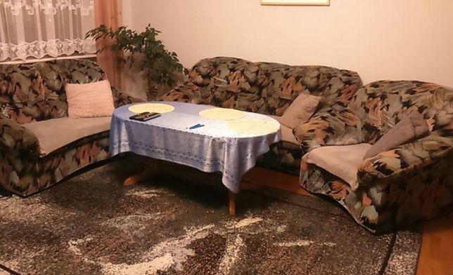 Piękny komplet wypoczynkowy - kanapa, sofa i fotel
