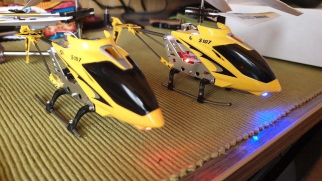 Вертолёты S107 с пультом и комплектующими.