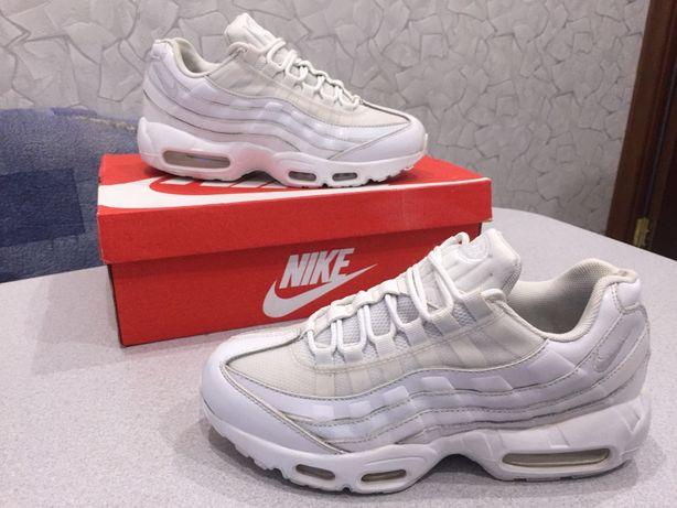 Кроссовки Nike 39 р 25 см КОЖА Air Max 95 Найк Эйр Аир Макс кеды белые