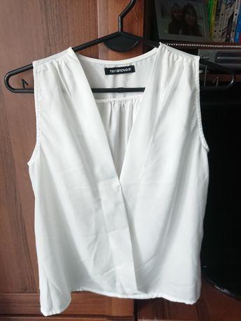 Biała koszula bez rękawów