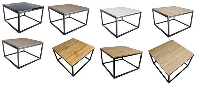 Stolik ława stół loft biały czarny połysk sonoma artisan wotan szary