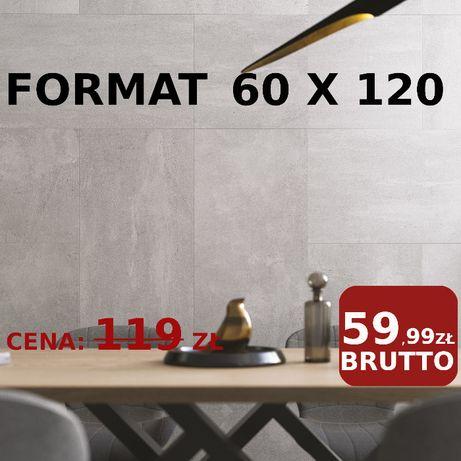 Płytki Cement Beton Space Grys MAT 60x120 NOWOŚĆ My Way Paradyż