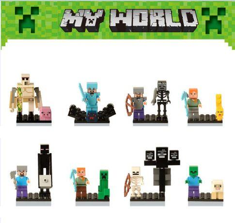 Bonecos minifiguras Minecraft nº16 - compativel Lego